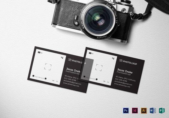 fotoğraçılara özel kartvizit örnekleri