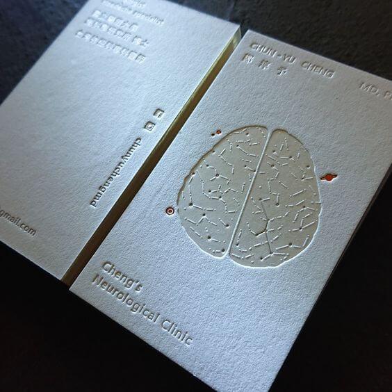 letterpress tipo baskı kartvizit örnekleri
