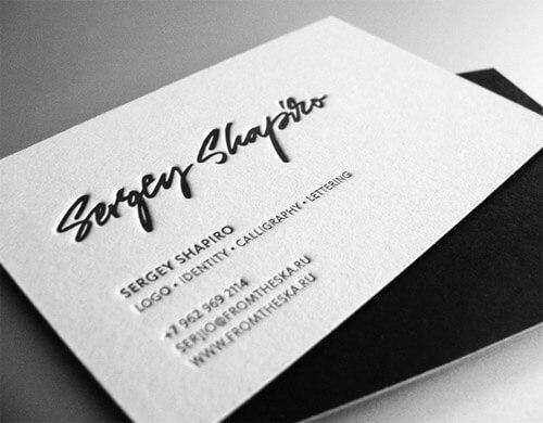siyah beyaz baskılı kartvizit tasarımları