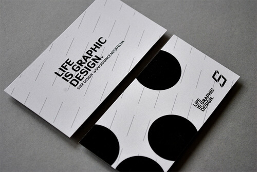 black and white business cards templates