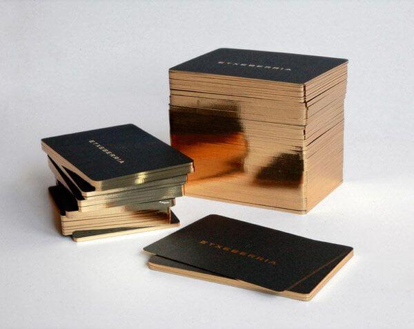 lüks ve özel tasarım siyah tema altın yaldız kartvizit