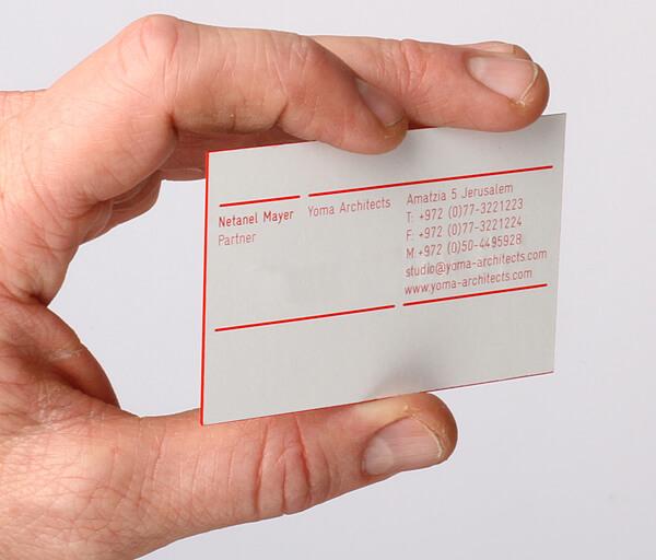 kenar boyalı size özel kartvizitler