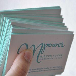 kenar boyalı kartvizit