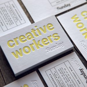 creative letterpress business card