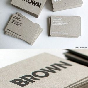 letterpress tipo lüx kartvizit