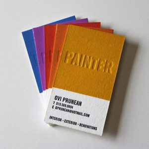 letterpress özel kartvizit
