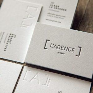 letterpress tipo kartvizit