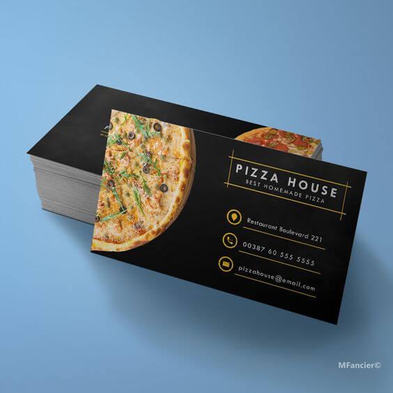 pizza salonu kartvizit örnekleri