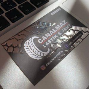 çift yüz gümüş yaldızlı ekonomik kartvizit
