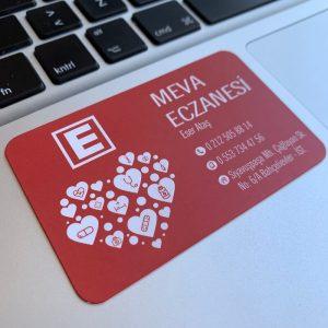 eczane özel lüks laklı kartvizit