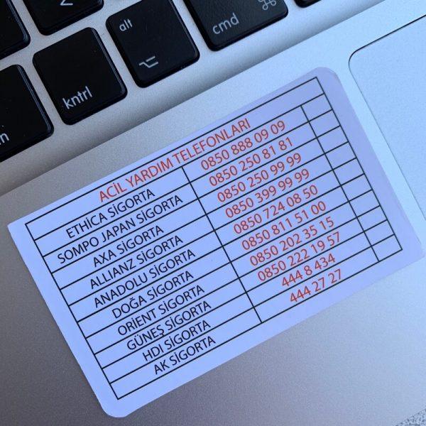 sigorta özel kartvizit kabartma laklı