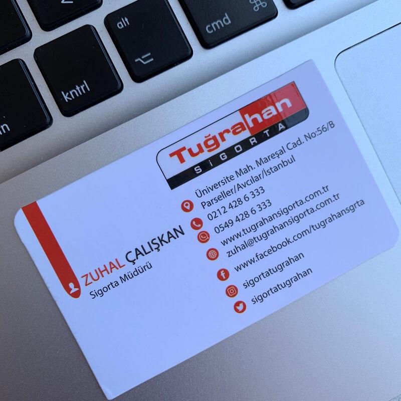 sigorta özel laklı kartvizit