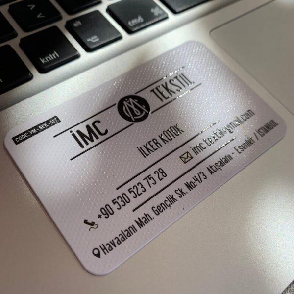 özel lüx teksit laklı kartvizit