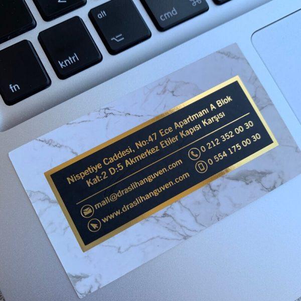 estetik güzellik altın varak yaldız lüx kartvizit