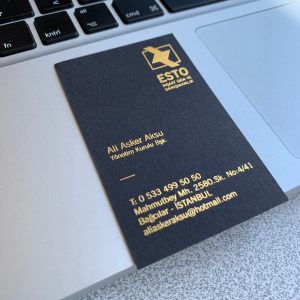 varak yaldız lüks özel kartvizit inşaat danışman
