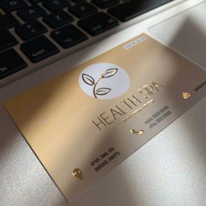 altın varak yaldız spa güzellik lüks kartvizit